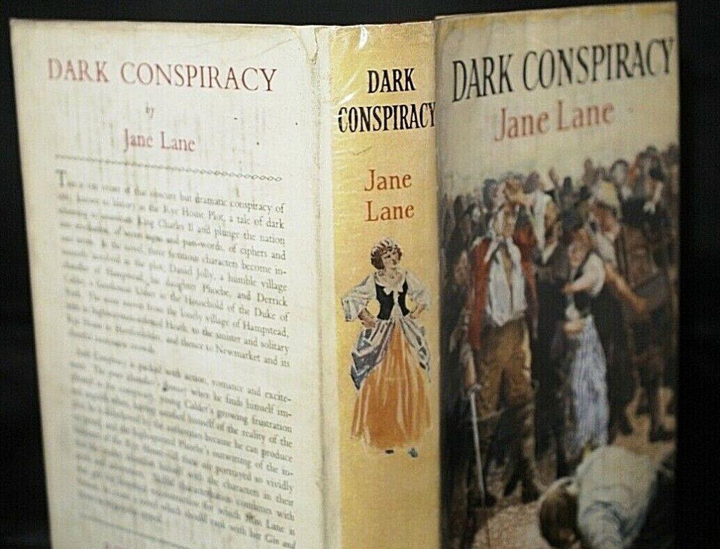 ** Rare Title ** Jane Lane Dark Conspiracy 1st/1st 1951
