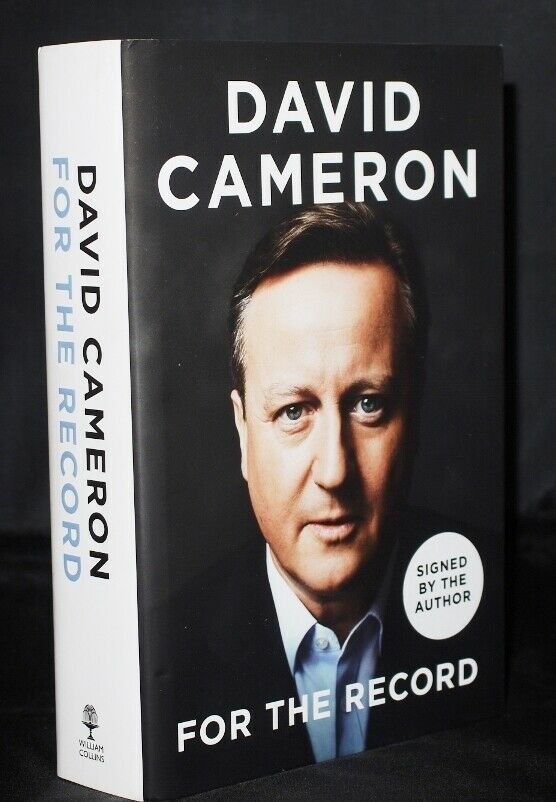 * Signed * David Cameron For The Record 1st/1st 2019